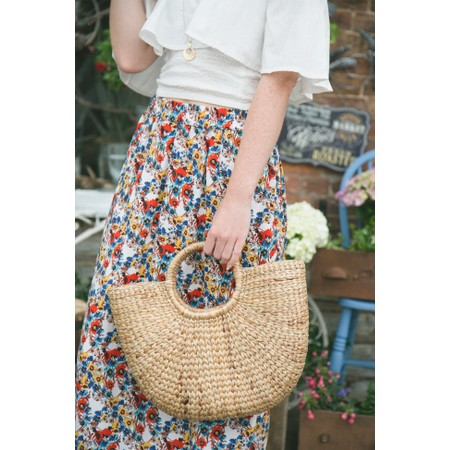 Betsy & Floss Ischia Basket Bag - Brown