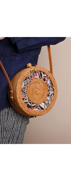 Betsy & Floss Sicily Round Basket Bag Tan