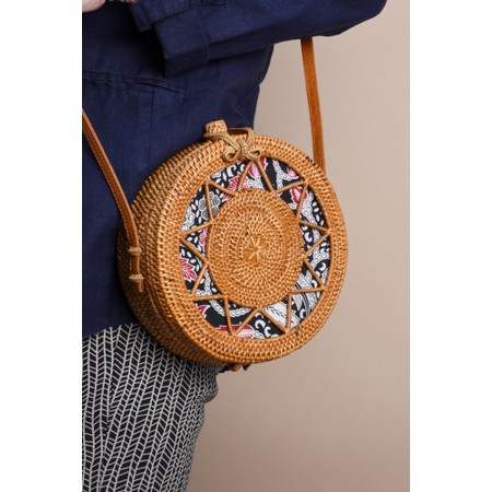 Betsy & Floss Sicily Round Basket Bag - Brown