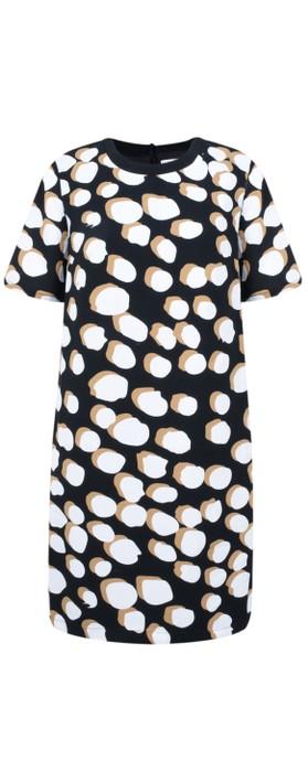 Great Plains Margot Spot Dress Black/Amaretto