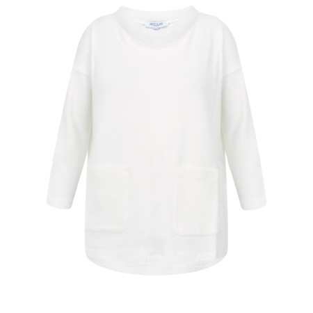Great Plains Kitten Soft Pocket Jumper - Off-White