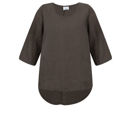 Thing Linen Pocket Top - Brown