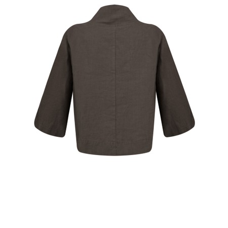 Thing Easy Fit Button Jacket - Brown