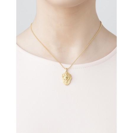 Bill Skinner Lion Pendant Necklace - Gold