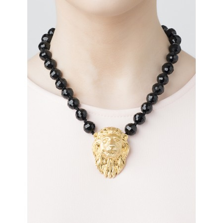 Bill Skinner Lion Statement Necklace  - Black