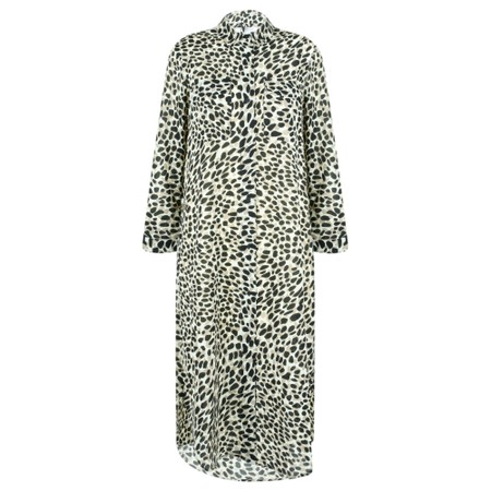 Great Plains Cara Leopard Shirt Dress - Beige