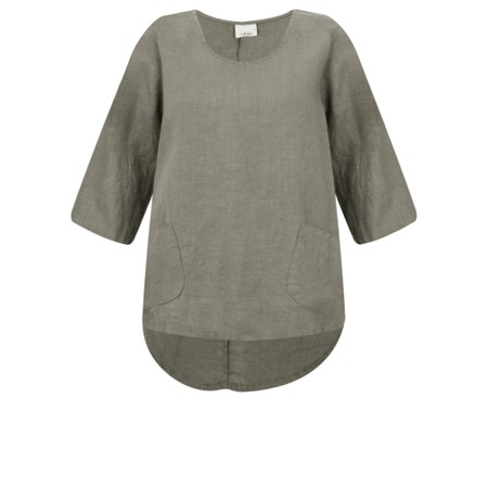 Thing Linen Pocket Top - Grey