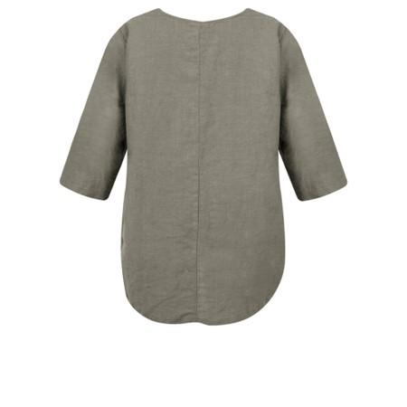 Thing Linen Pocket Top - Grey