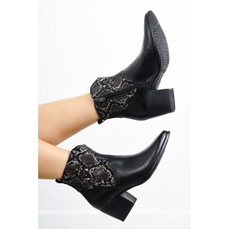 Marco Tozzi Gari Snake Combi Gaucho Boot - Black