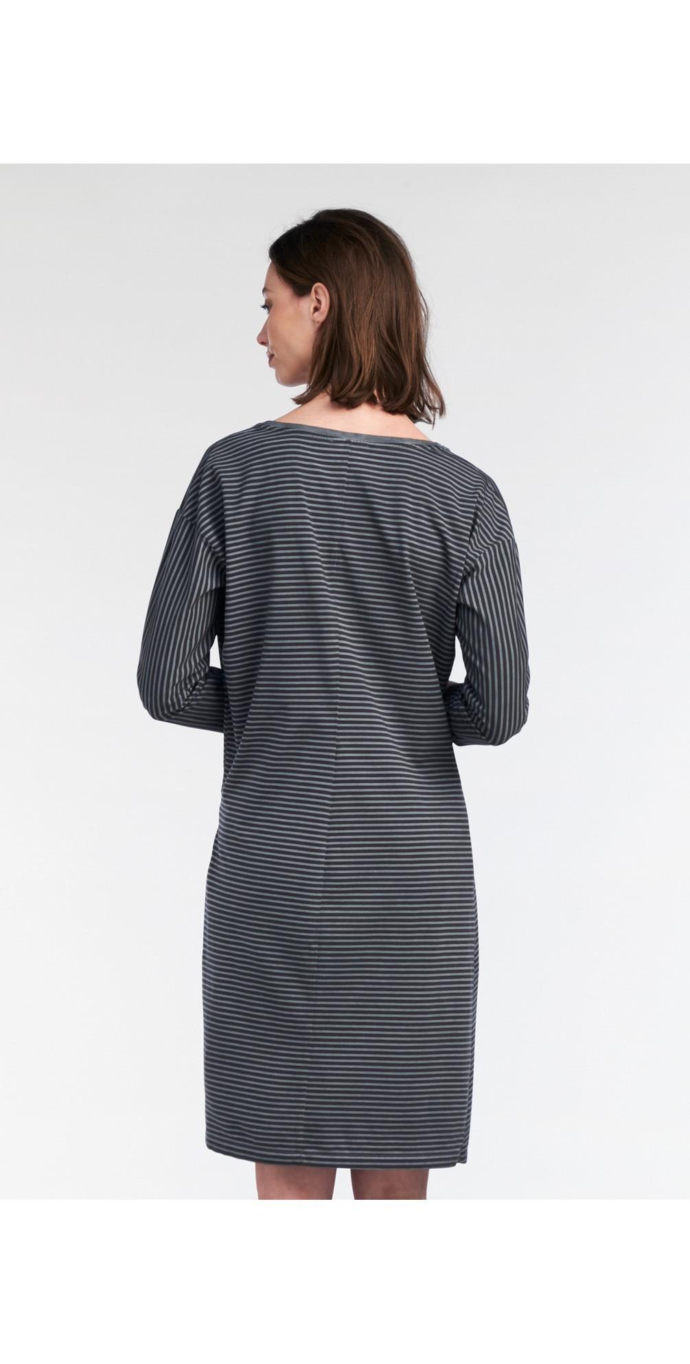 Striped Tie Detail Jersey Dress  main image