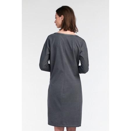 Sandwich Clothing Striped Tie Detail Jersey Dress  - Blue