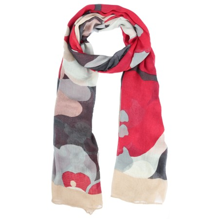 Sandwich Clothing Bold Floral Print Scarf  - Pink