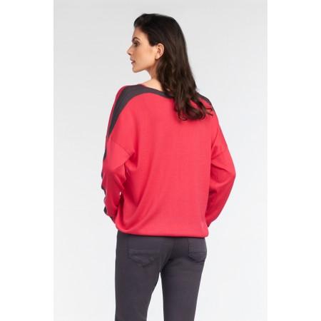 Sandwich Clothing Sleeve Stripe Batwing Jumper - Pink