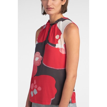 Sandwich Clothing Pleat Detail Floral Blouse - Pink
