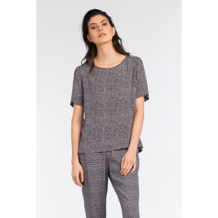 Sandwich Clothing Small Check Print Top - Grey