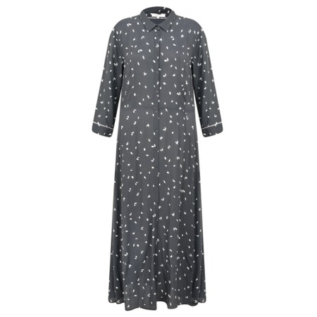 Sandwich Clothing Dash Print Long Tea Dress  - Grey