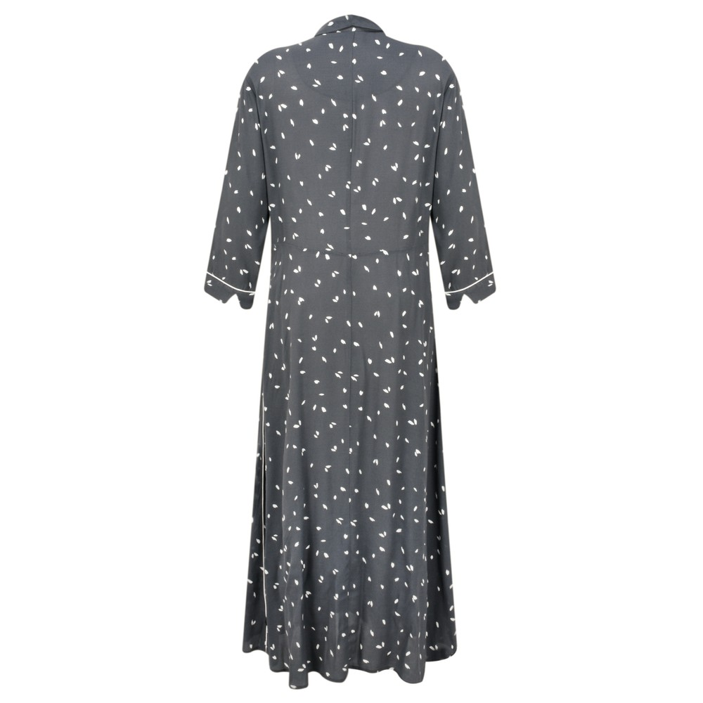 Sandwich Clothing Dash Print Long Tea Dress  Anthracite