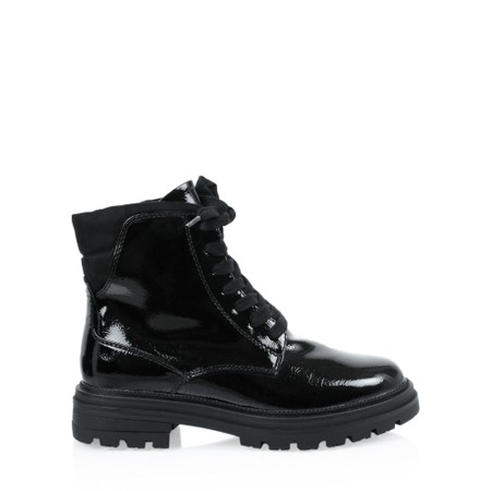 Marco Tozzi Formeli Lace Up Biker Boots  - Black