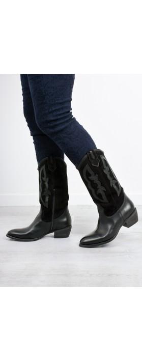 Kanna Rabat Western Boot  Black