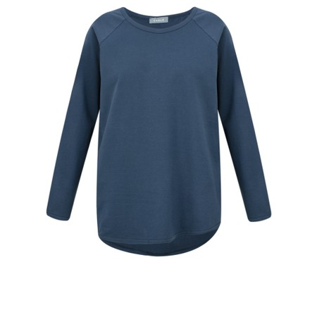 Chalk Tasha Plain Jersey Top - Blue