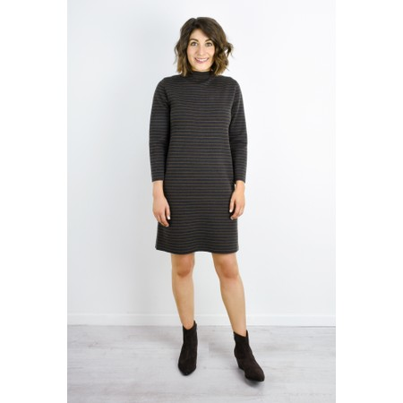 Great Plains Somme Stripe Knit Dress - Green