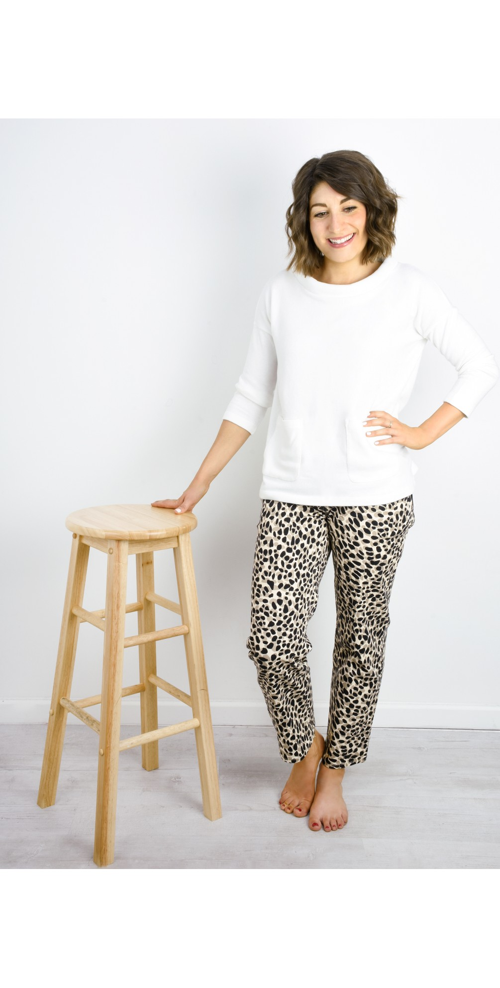 Pearl Leopard Jeans main image