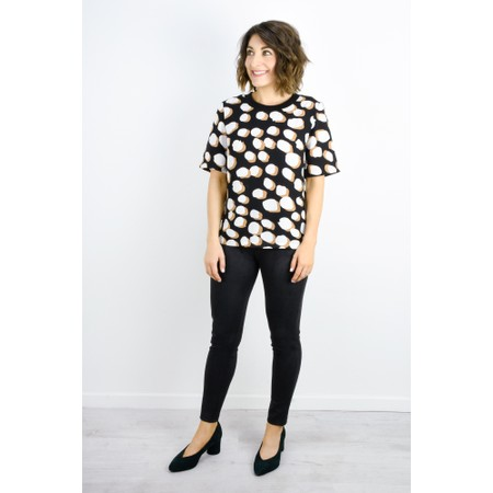 Great Plains Margot Spot Top - Black