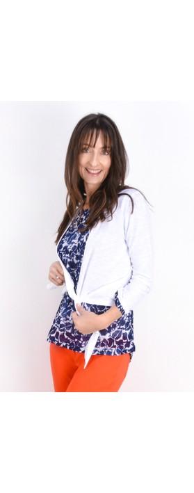 Adini Cotton Slub Sylvia Wrap Top White