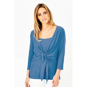 Adini Cotton Slub Sylvia Wrap Top