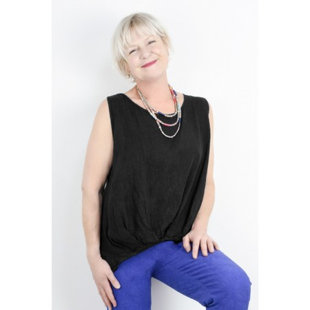 Fenella  Camille Easyfit Shell Top - Black