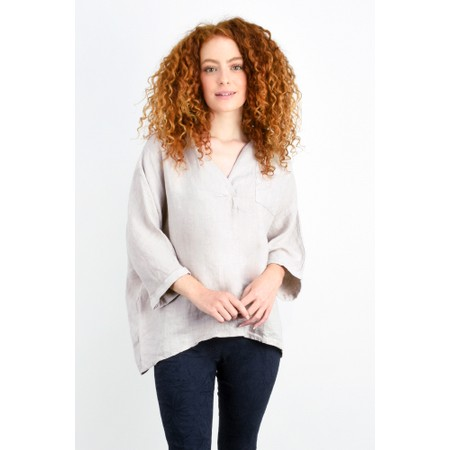 Fenella  Iris EasyFit Shirt with Pocket - Beige