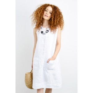 Fenella  Laural Linen Easy Fit Sleeveless Dress
