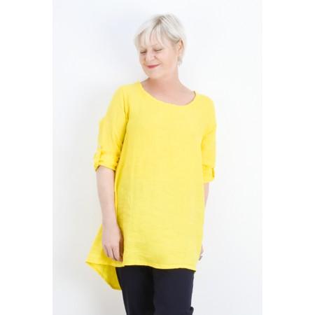 Fenella  Orla EasyFit Linen Button Back Top - Yellow