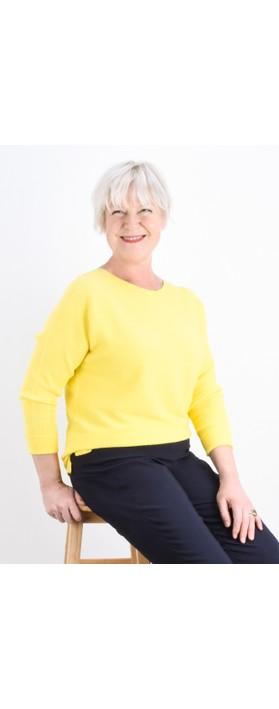 Fenella  Janey Rib Easyfit Jumper Blazing Yellow F11