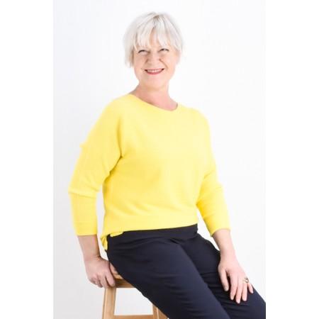 Fenella  Janey Rib Easyfit Jumper - Yellow