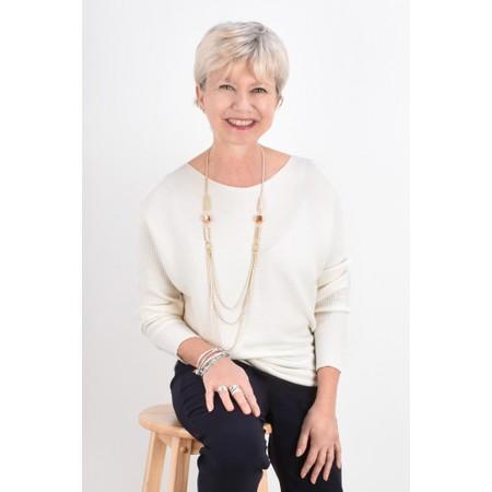 Fenella  Janey Rib Easyfit Jumper - Off-White