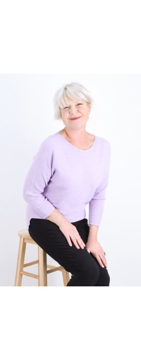 Fenella  Janey Rib Easyfit Jumper Lilac