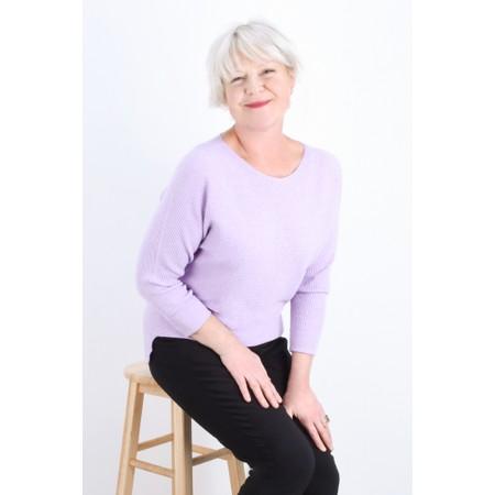 Fenella  Janey Rib Easyfit Jumper - Purple