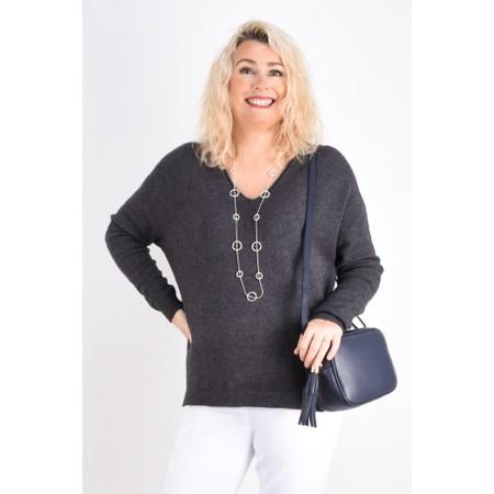 Fenella  Emmie EasyFit V-neck Knit Jumper - Black