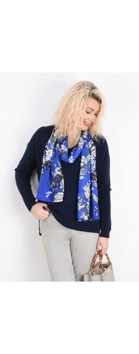 Fenella  Emmie EasyFit V-neck Knit Jumper Navy