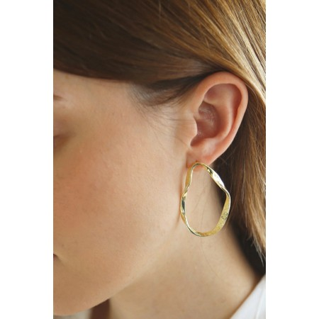 Tutti&Co Organic Coastal Earrings  - Gold