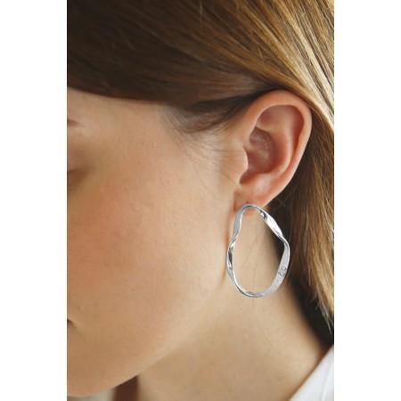 Tutti&Co Organic Coastal Earrings  - Metallic