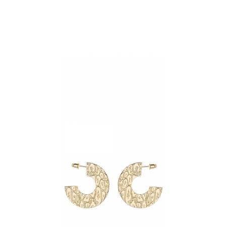 Tutti&Co Leopard Earrings  - Gold