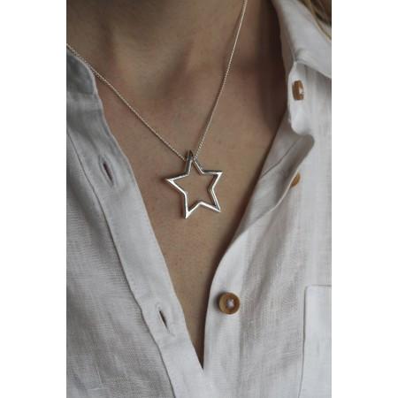 Tutti&Co Neptune Star Necklace  - Metallic