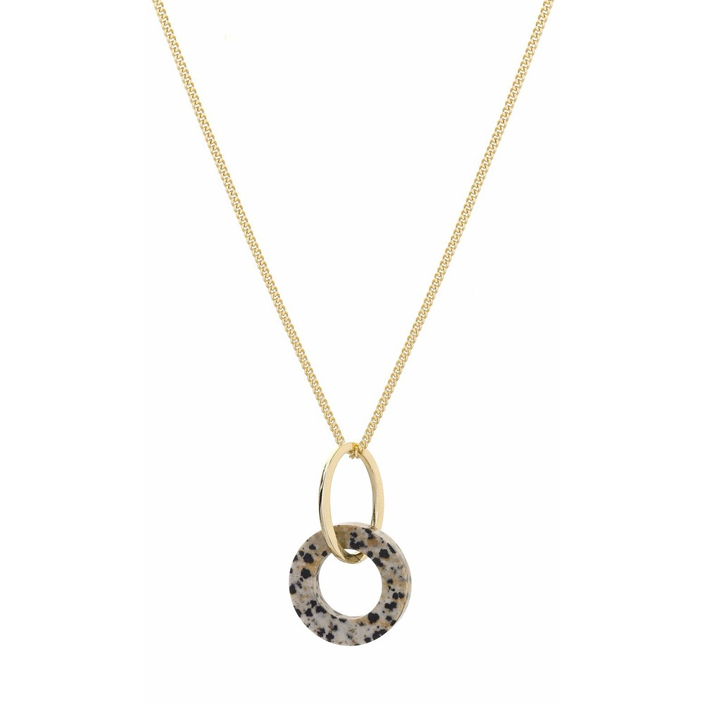 Tutti&Co Jasper Stone Necklace Gold