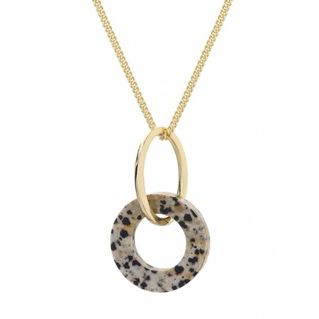 Tutti&Co Jasper Stone Necklace - Gold