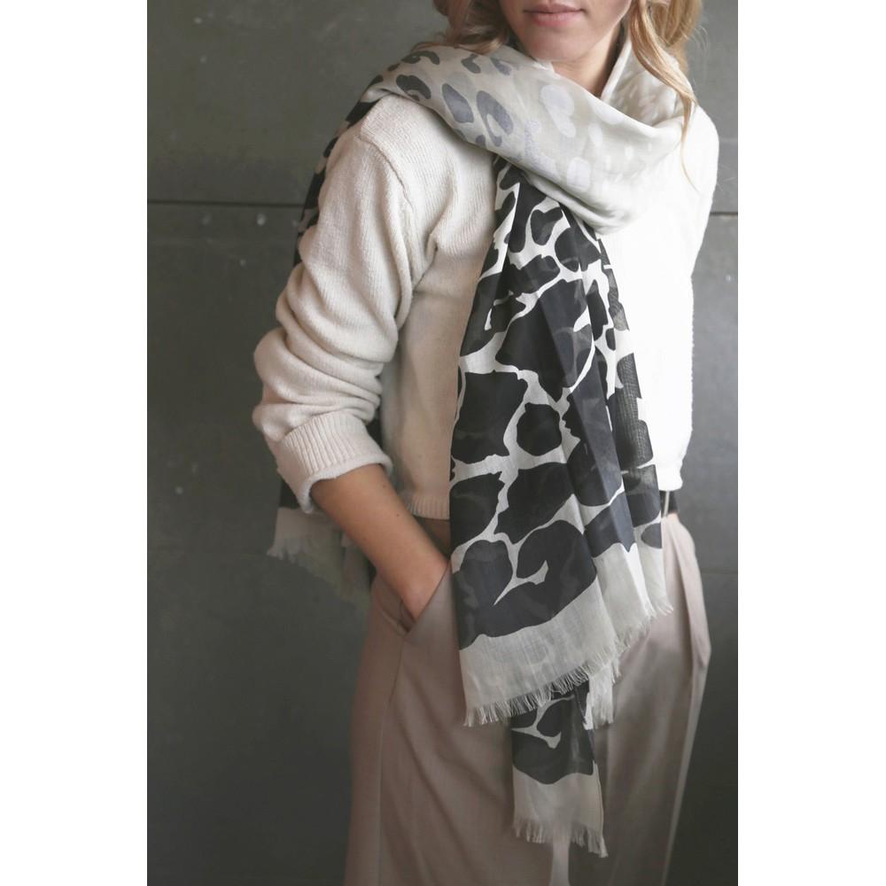 Tutti&Co Animal scarf Black/Grey/White