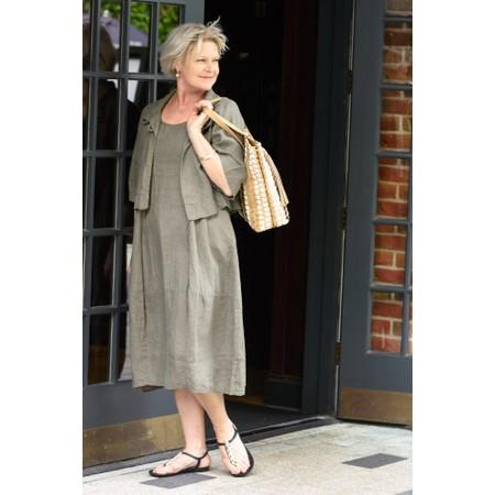 Thing Linen Sleeveless Dress - Grey