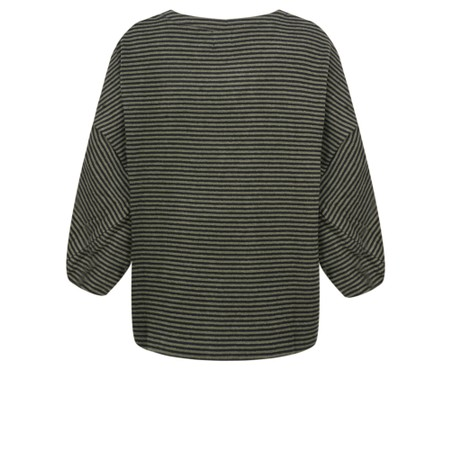 Mes Soeurs et Moi Romy Stripe Fleece Poncho Top - Green