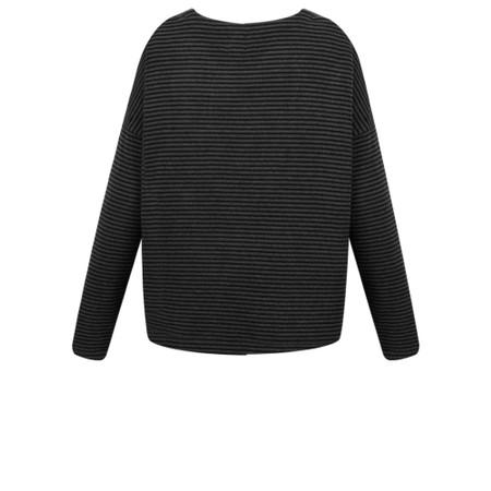 Mes Soeurs et Moi Rokia Stripe Fleece Top - Black
